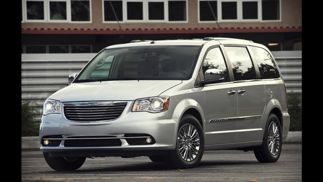 Recall 1: Chrysler convoca Town & Country devido à risco de acionamento involuntário do airbag