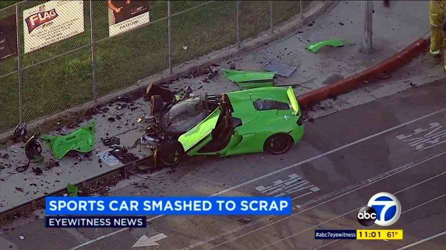 McLaren 650S Spider crash in Los Angeles