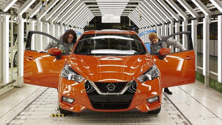 İlk 2017 Nissan Micra'lar üretim bandından indi