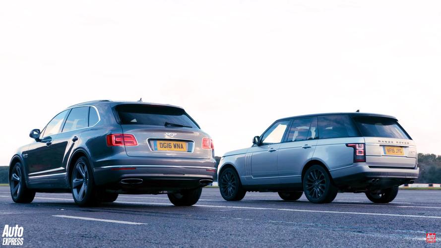 Bentley Bentayga versus Land Rover Range Rover drag race