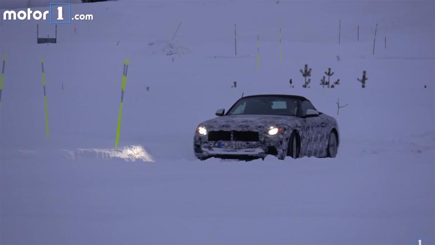 BMW Z5 Spy Video in Snow