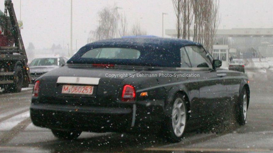 New Rolls Royce Convertible On the Road