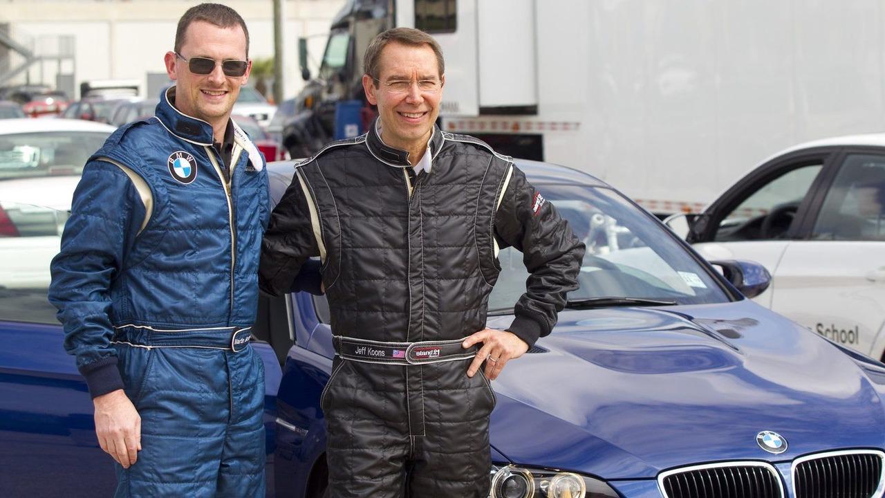 Jeff Koons and Motorsport Manager BMW of North America, Martin Birkmann at Sebring International Raceway on February 23, 2010 - 07.04.2010