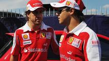 Felipe Massa (BRA), Scuderia Ferrari and Fernando Alonso (ESP), Scuderia Ferrari - Formula 1 World Championship, Rd 14, Italian Grand Prix, Thursday