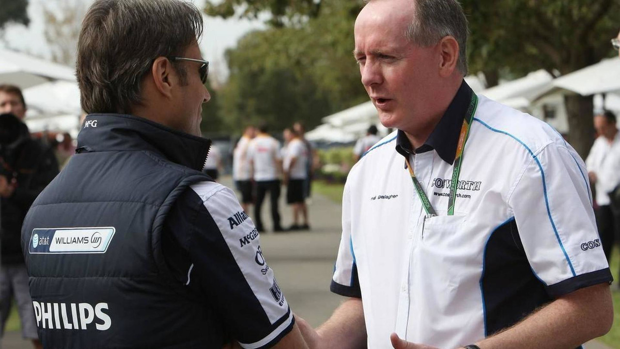 Adam Parr, Williams F1 Team, Mark Gallagher (IRL), General Manager of Cosworth's F1 Business Unit, Australian Grand Prix, 27.03.2010 Melbourne, Australia