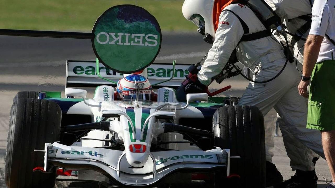 Jenson Button, Honda Racing F1 Team, refueling, Testing, Jerez, Spain 25.07.2008