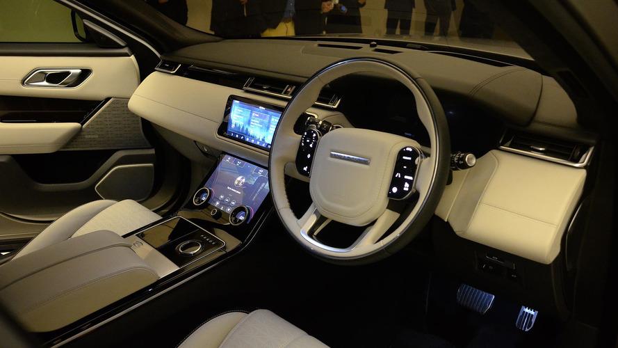 Range rover velar coupe suv arrives this summer starts at for Interieur range rover velar