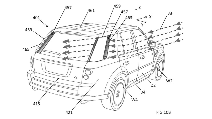 JLR Patents Aero Tricks For Routing Air Along Side Of Vehicle