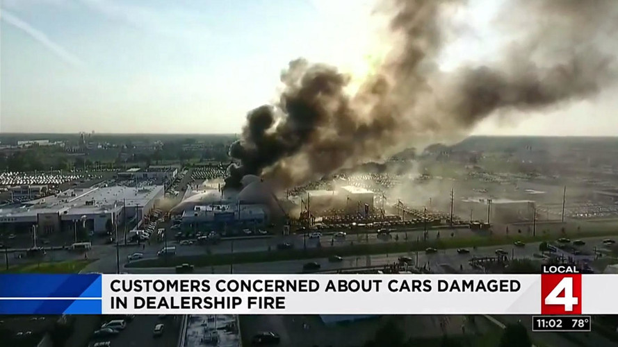 Massive Fire Destroys 30 Cars At Detroit Chevy Dealership