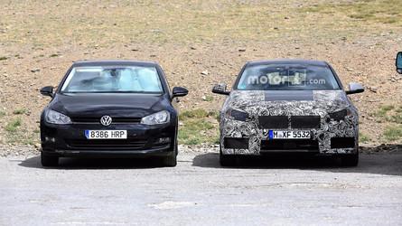 La future BMW Série 1 a rencontré une VW Golf