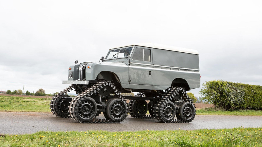 Tracked Land Rover Can Go Where No Other LR Has Gone Before
