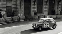 Paddy Hopkirk and Henry Liddon in Mini Cooper, Rallye Monte Carlo 1964