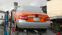 Orange & Silver Mercedes E-Class Cabrio Caught on Delivery Truck