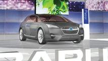 Subaru Hybrid Tourer Concept booth illustration, Geneva Auto Salon 2010 - 800