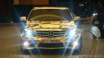 Chrome Finished Mercedes C63 AMG Found in Dubai