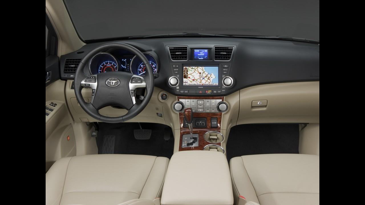 Nova geração do Toyota Highlander estará no Salão de Nova York