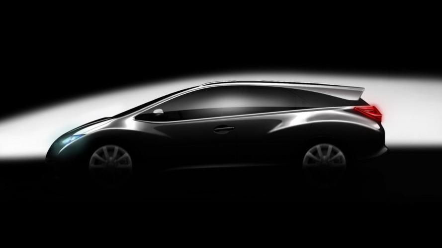 Honda divulga teaser e confirma lançamento de versão perua do Civic na Europa