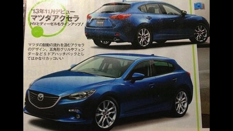 Revista japonesa revela nova geração do Mazda3