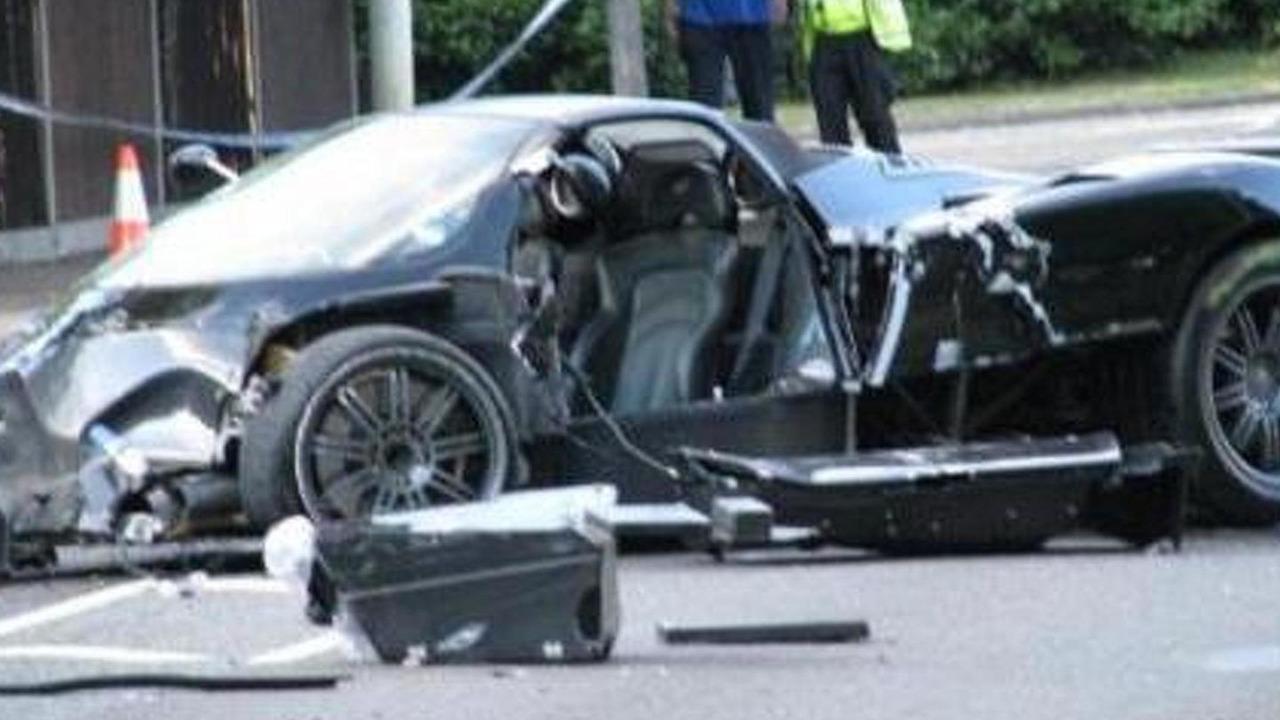 Crashed Pagani Zonda Roadster