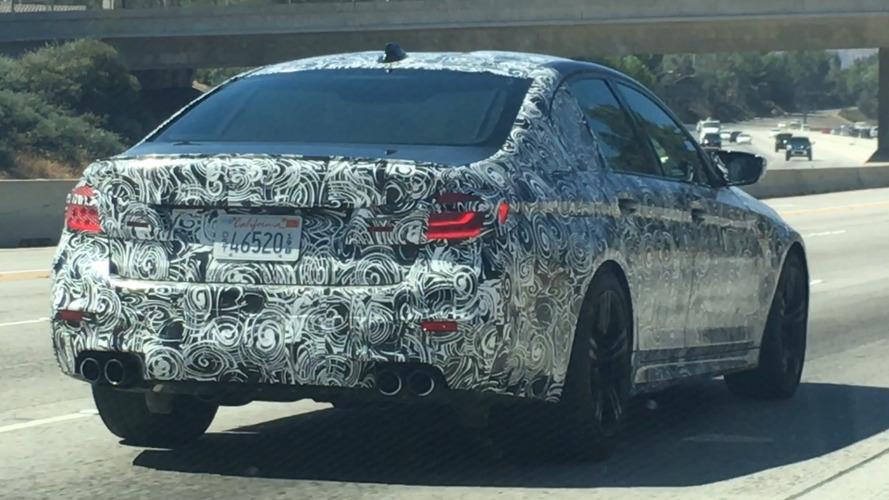 2018 BMW M5 spy photos from California