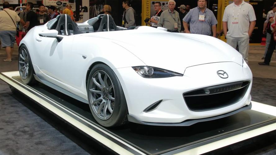 Video: Mazda Miata konsepti 2016 SEMA Fuarı'nda