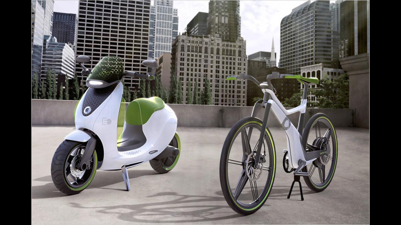 Stadt-Elektro-Roller