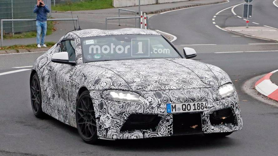Toyota Supra Spied Showing Production LED Lights