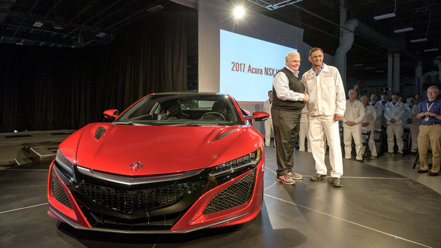 First production Acura NSX rolls off the line
