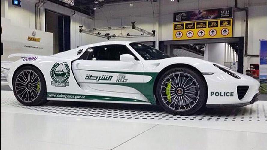 Porsche 918 Spyder, l'ultima chicca della polizia di Dubai
