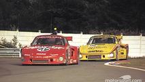 #69 Racing Associates Porsche 935 K3: Bob Akin, Ralph Kent Cooke, Paul Miller, #85 Whittington Brothers Racing Porsche 935 K3: Hurley Haywood, Don Whittington, Dale Whittington