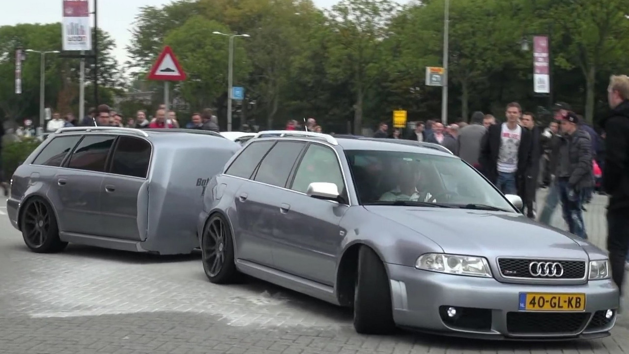 Audi RS4 Avant with matching trailer