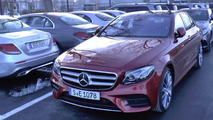 Lots of Mercedes E-Class press and presentation cars filmed [videos]