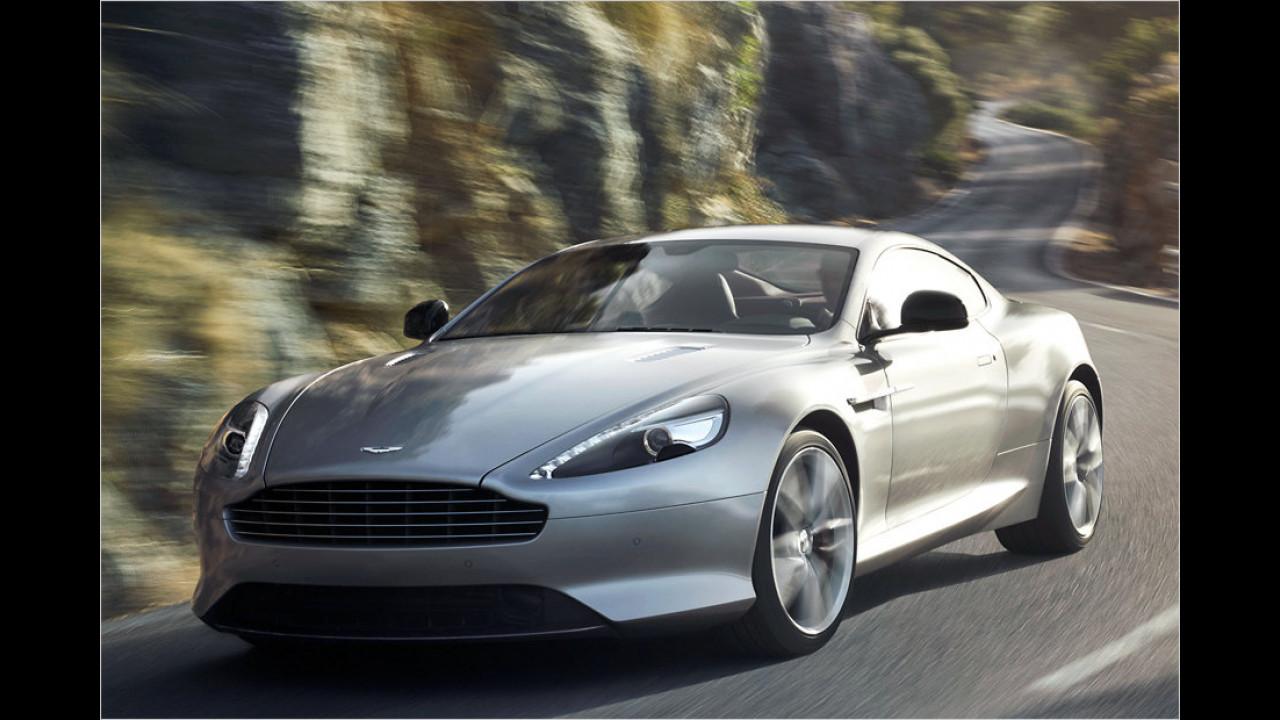 Sechs Stück vom Aston Martin DB9 wurden 2013 angemeldet. Nun ja, das 517 PS starke Coupé kostet auch fast 175.000 Euro