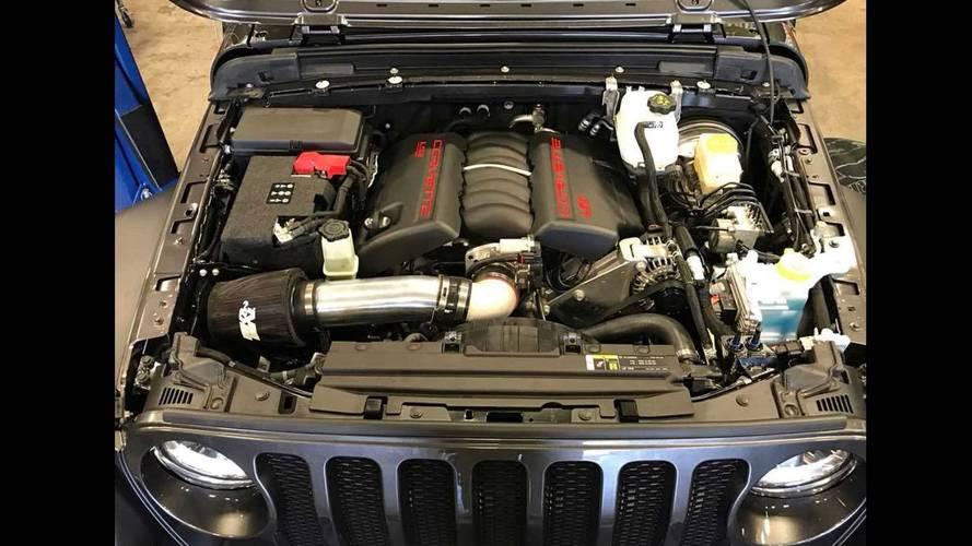 Someone Already Stuffed A Corvette V8 Into The New Jeep Wrangler