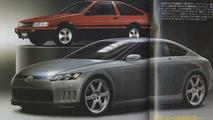 Toyota AE86 renderings dated August 2007