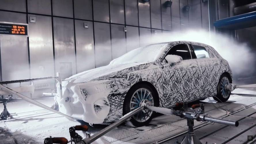 Mercedes Shows Off Camouflaged 2018 A-Class From Winter Testing