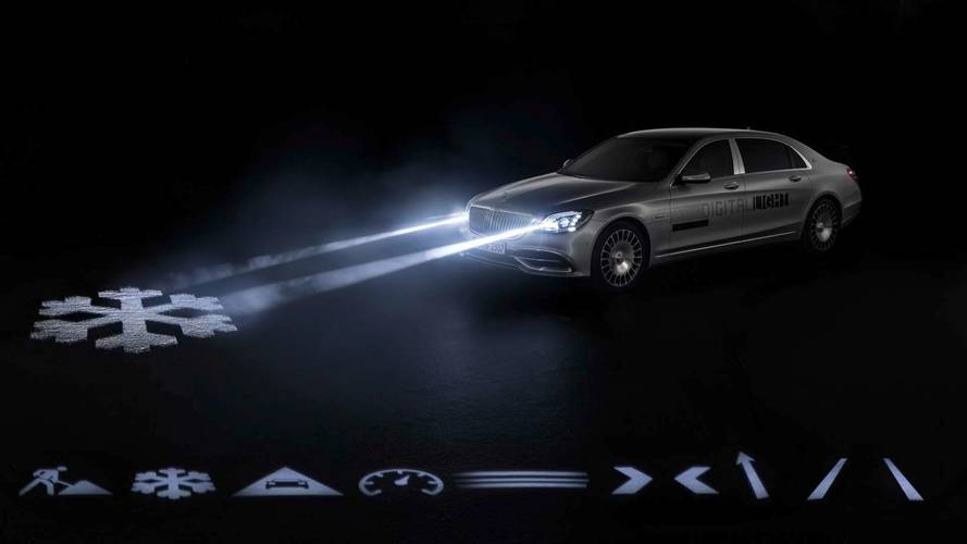 New Mercedes-Maybach Headlights Can Project Symbols On The Road