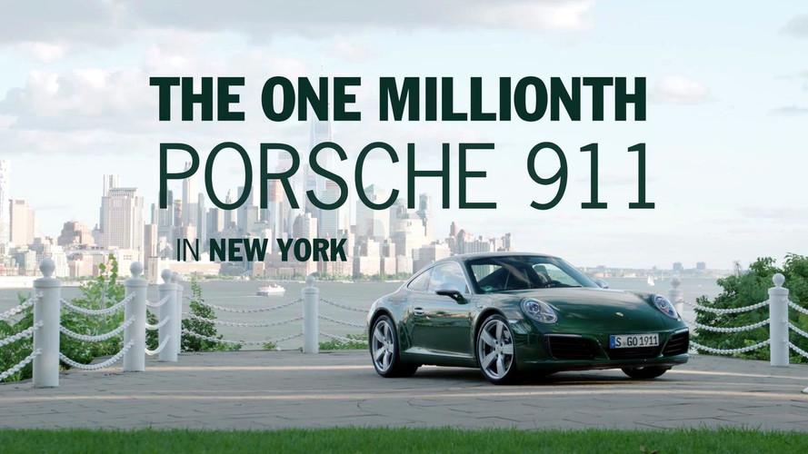 VIDÉO - La millionième Porsche 911 arrive à New York