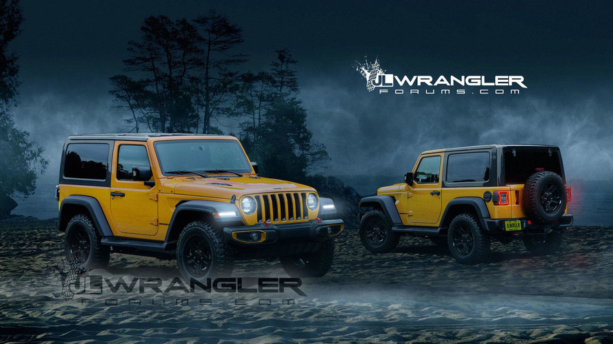 2018 Jeep Wrangler Two-Door Rendered With New Cues