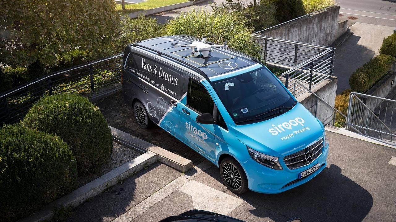 Mercedes-Benz Vito Drone Delivery