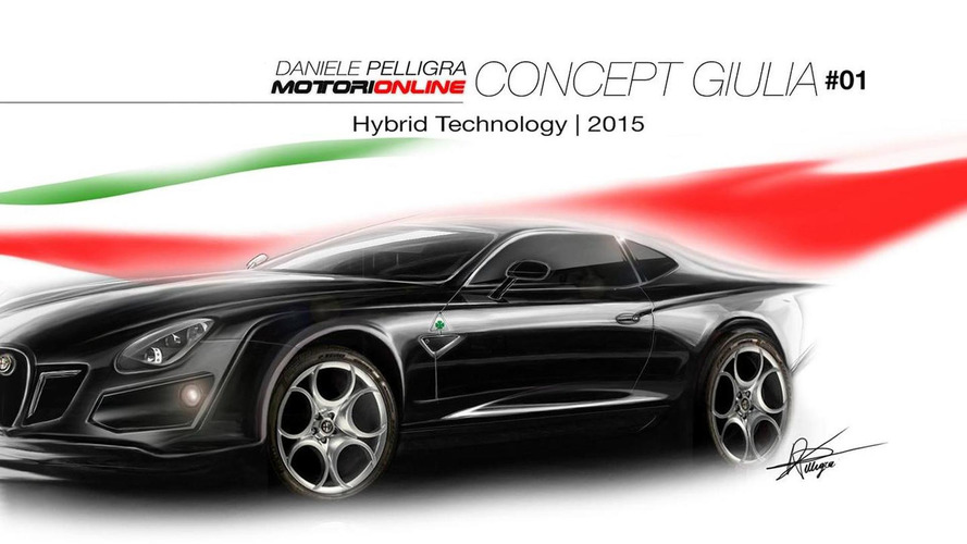 Alfa Romeo Giulia concept rendered in three versions