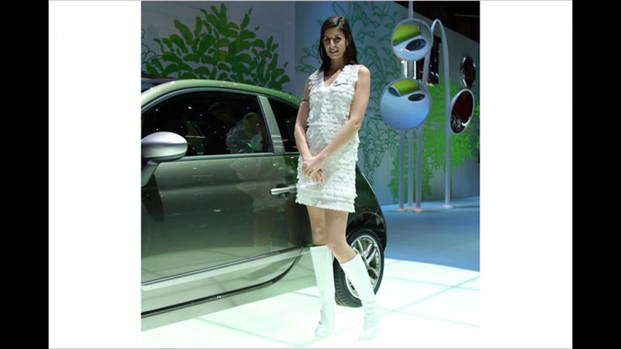 Fiat 500: Der Frauen-Schwarm ist oft auf der Messe zu finden