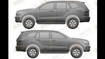 SUV da Ranger, Ford Everest tem primeiras patentes registradas na China