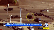 Stolen Chevy Volt trying to escape the police