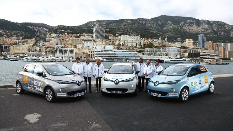 Renault Zoé - Au départ du e-Rallye Monte-Carlo 2016