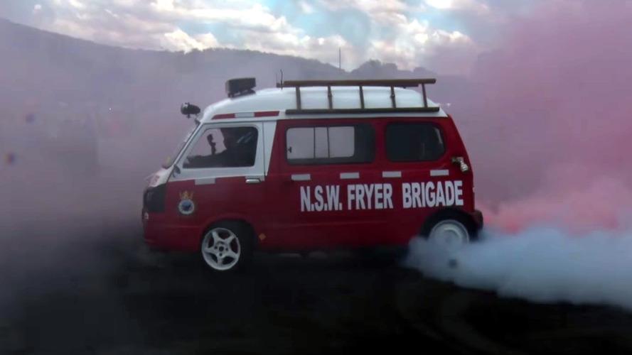 This Australian Subaru Microvan Is An Epic 1,500-Pound Tire Fryer