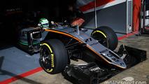 Nico Hulkenberg, Sahara Force India F1 VJM09 leaves the pits