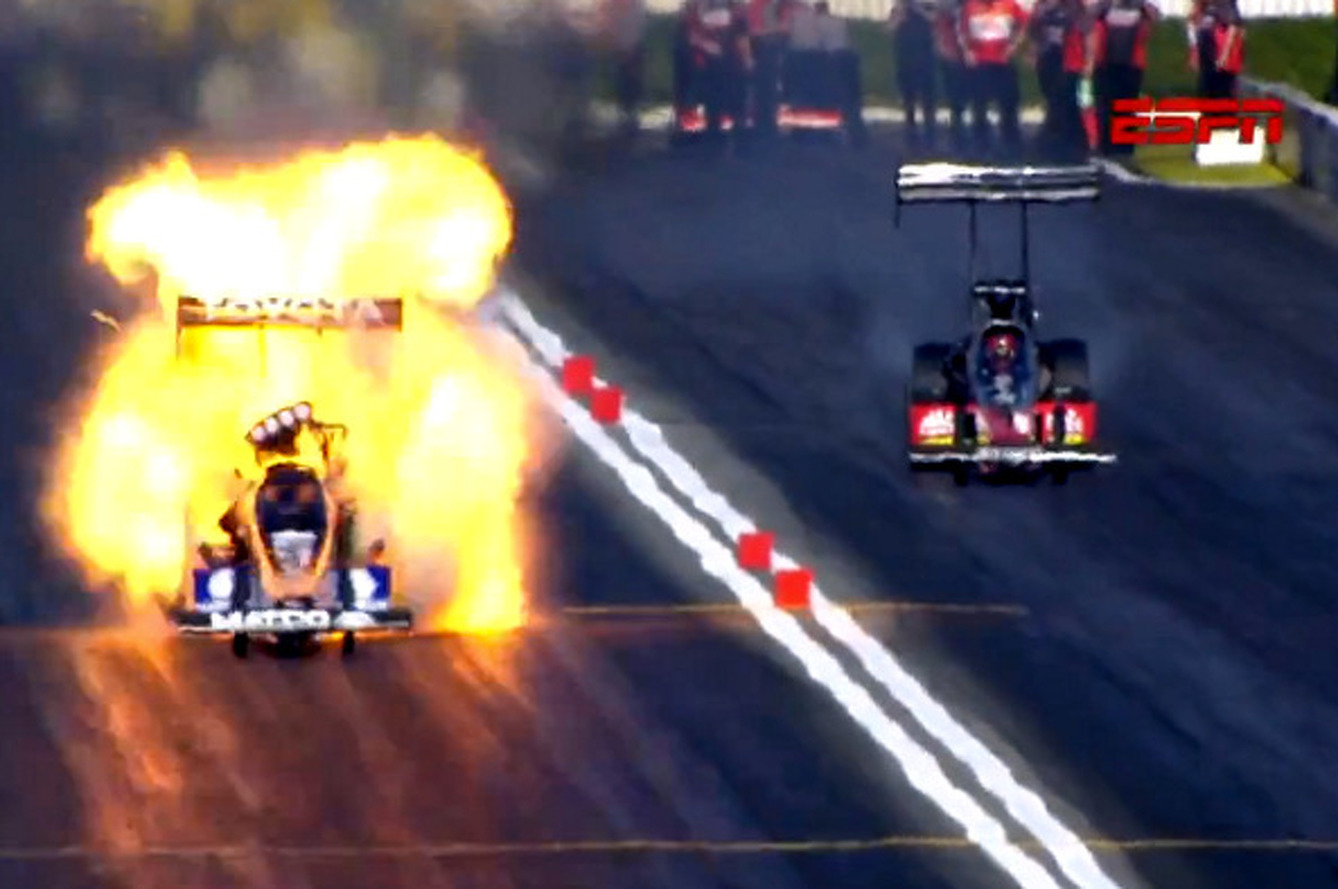 Driver Walks Away From Epic Dragster Crash at Pomona