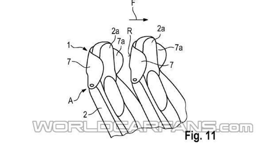 Porsche files a patent for a headrest-mounted wind deflector