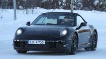 2012 Porsche 911 Cabrio spied cold 22.02.2011